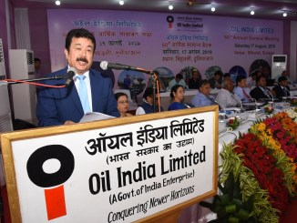 CMD, OIL Utpal Bora addressing during OIL's 60th AGM