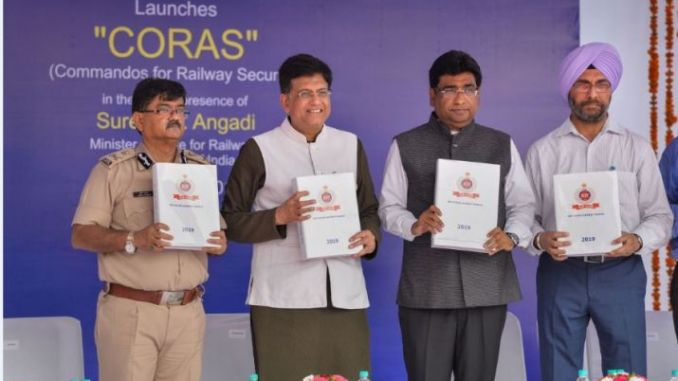 CORAS - Commandos For Railway Security Launched by Indian Railways