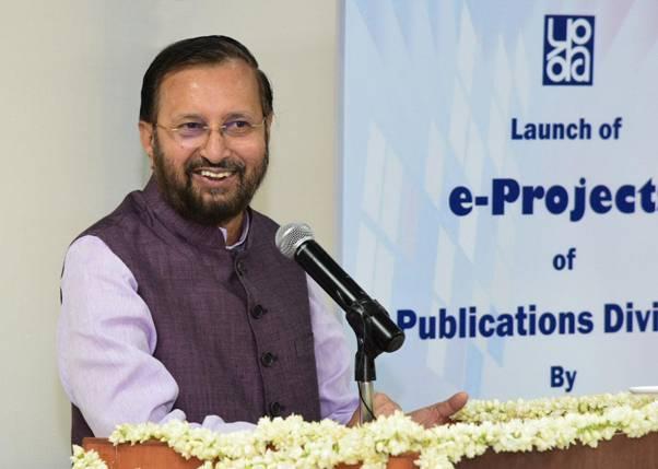 Prakash Javadekar launches several e-projects