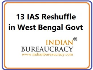 13 IAS Reshuffle in West Bengal Govt