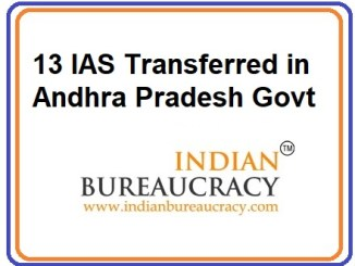 13 IAS Transferred in AP Govt