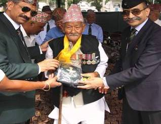 100 YRS old Veteran of 9 GR felicitated