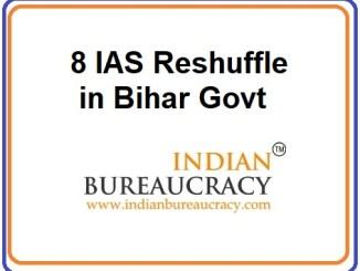 8 IAS Reshuffle in Bihar Govt