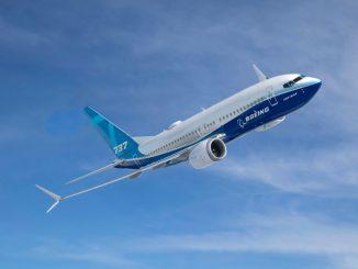Boeing 737 MAX 7 First Flight Air to Air