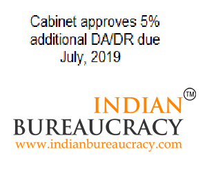Cabinet approves 5% additional DA/DR due July, 2019