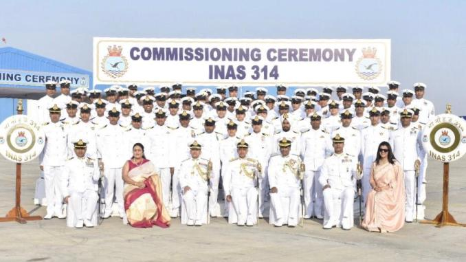 Commissioning of INAS 314 - Raptors