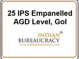 25 IPS Emapnelled ADG level at GoI