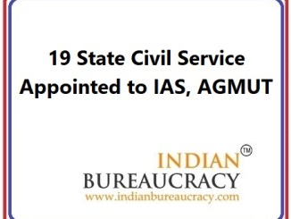 19 State Civil Service appointed IAS in AGMUT Cadre