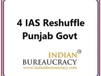 4 IAS Transfer in Punjab Govt