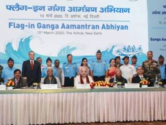 Home Minister chairs the Flag-in Ceremony of Ganga Aamantran Abhiyan
