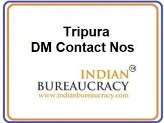 Tripura DM Contact Nos
