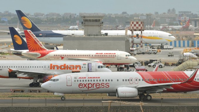 Air India aircraft are seen on the
