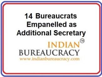 14 additional secretary empanellment