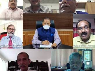 Jitendra Singh holds a video conference meeting with former Army Generals