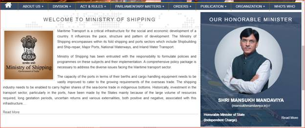 Ministry of Shipping launches new website shipmin.gov.in