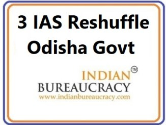 3 IAS Transfer in Odisha Govt