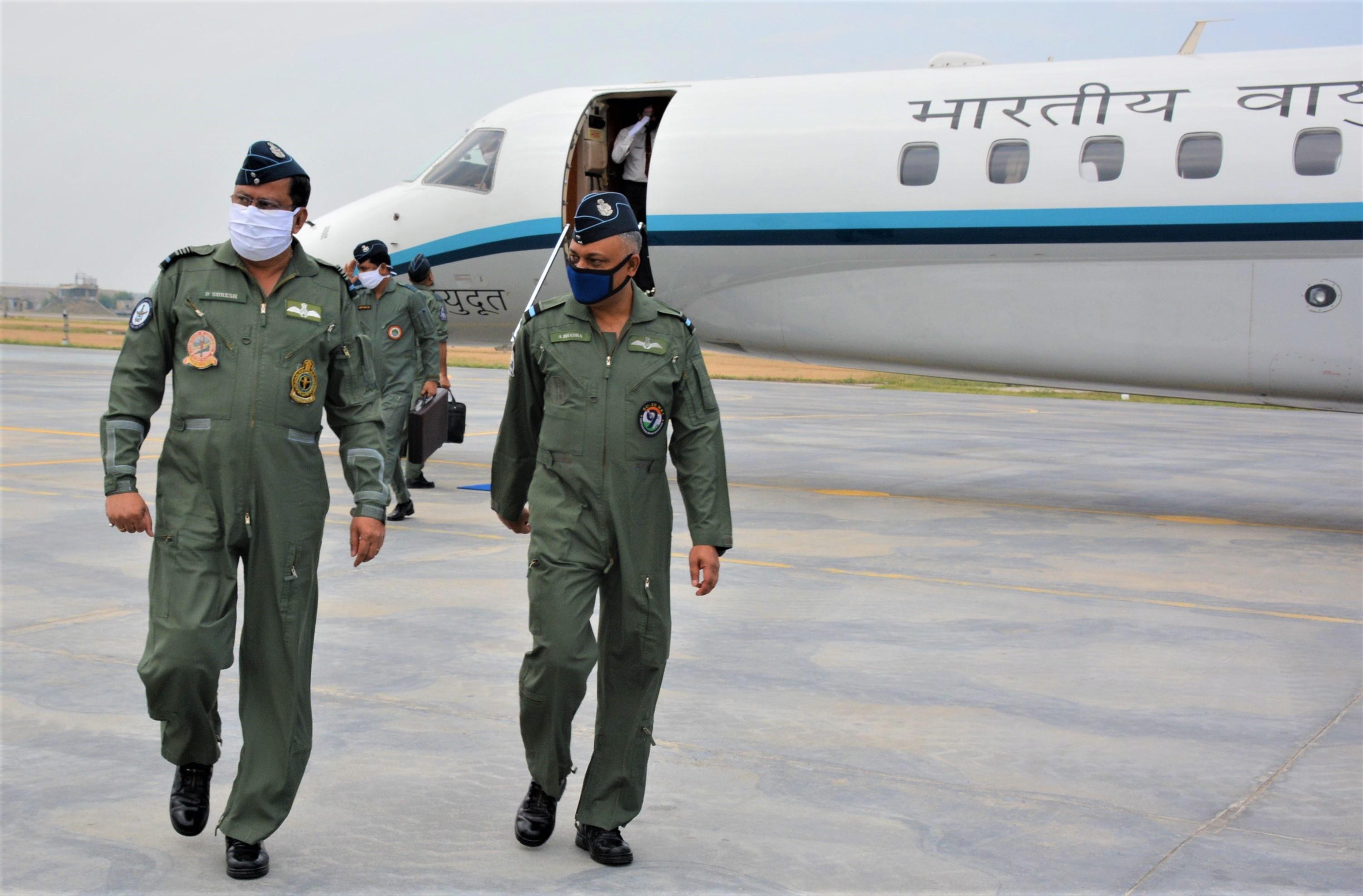 B Suresh PVSM AVSM VM ADC visits Air Force Station Halwara