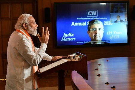PM delivers inaugural address at the Annual Session of CII fed