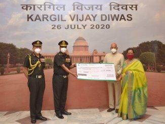 President of India donates to Army Hospital on Vijay Diwas