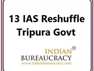 13 IAS Transfer in Tripura Govt