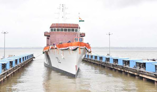 Indian Coast Guard Offshore Patrol Vessel Sarthak launched