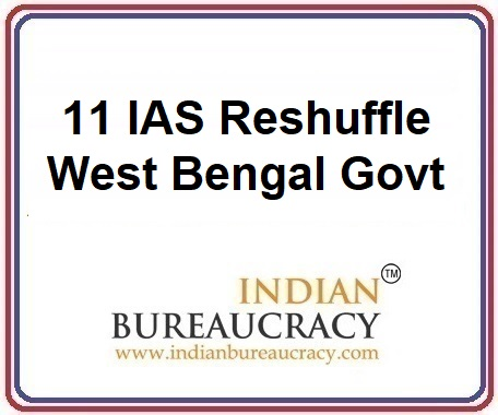 11 IAS Transfer in West Bengal Govt