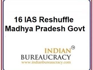 16 IAS Transfer in MP Govt