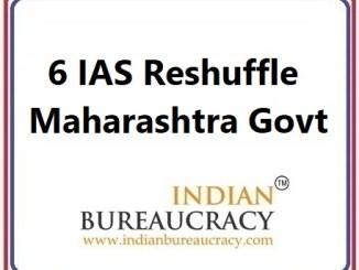6 IAS Reshuffle in Maharashtra Govt