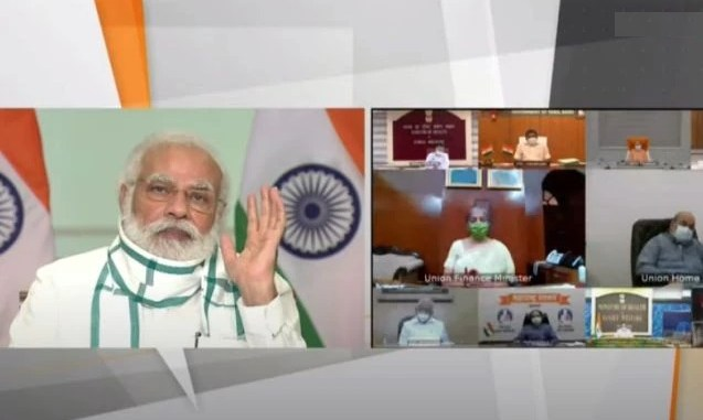 PM interacts with CMs of 7 states to review status and response to COVID-19