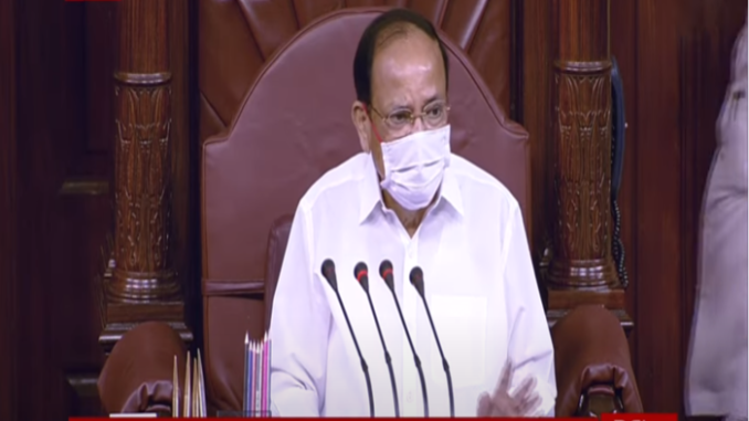 Rajya Sabha Chairman reiterated his concern for the safety of the public and Parliamentarians during the ongoing pandemic