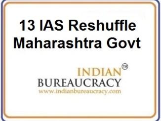 13 IAS Transfer in Maharashtra Govt