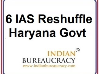 6 IAS Transfer in Haryana Govt