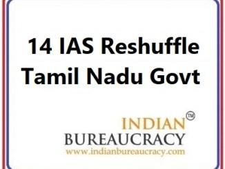 14 IAS Transfer in Tamil nadu Govt