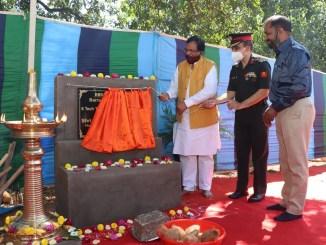 Shripad Naik visits 2 Signal Training Center