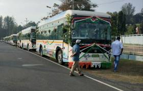Lt Governor flags off electric buses