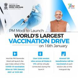 PM Launches pan India rollout of COVID-19