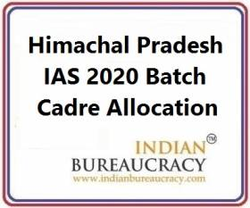 Himachal Pradesh 2020 Batch IAS