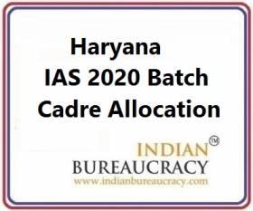 Haryana 2020 Batch IAS