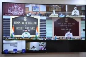 Union Health Minister Reviews