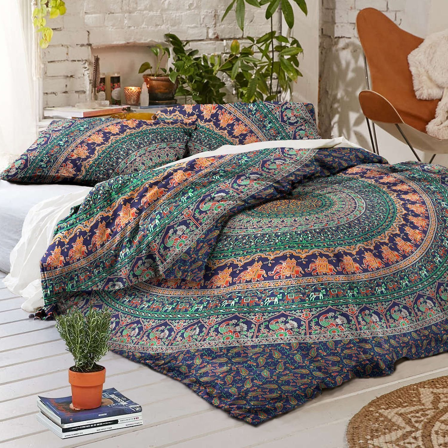 Queen Mandala Tapestry Indian Wall Hanging Bohemian Hippie Bedspread Throw 014