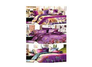 Zakina Pack Of 3 Polycotton Double Bed Sheet With 6 Pillow Covers