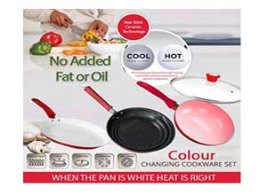 Kawachi Non Stick Ceramic Coated Color Changing Pan