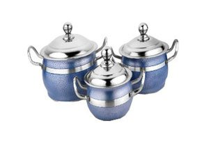 Airan Blue Stainless Steel Handi Set of 3