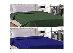 Warmland Polar 2 Piece Fleece Single Blanket