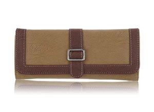 Fantosy Beige and Brown Women's Wallet