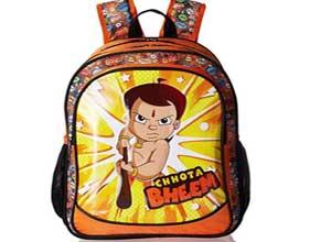 Chhota Bheem Nylon Orange School Bag