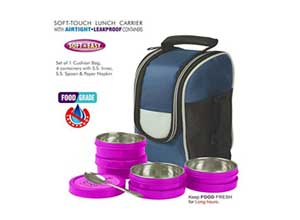 BMS Lifestyle Executive 2in1 Steel & Polypropylene Lunch Box Set