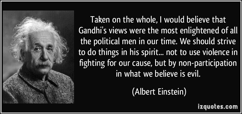 Image result for albert einstein on gandhi