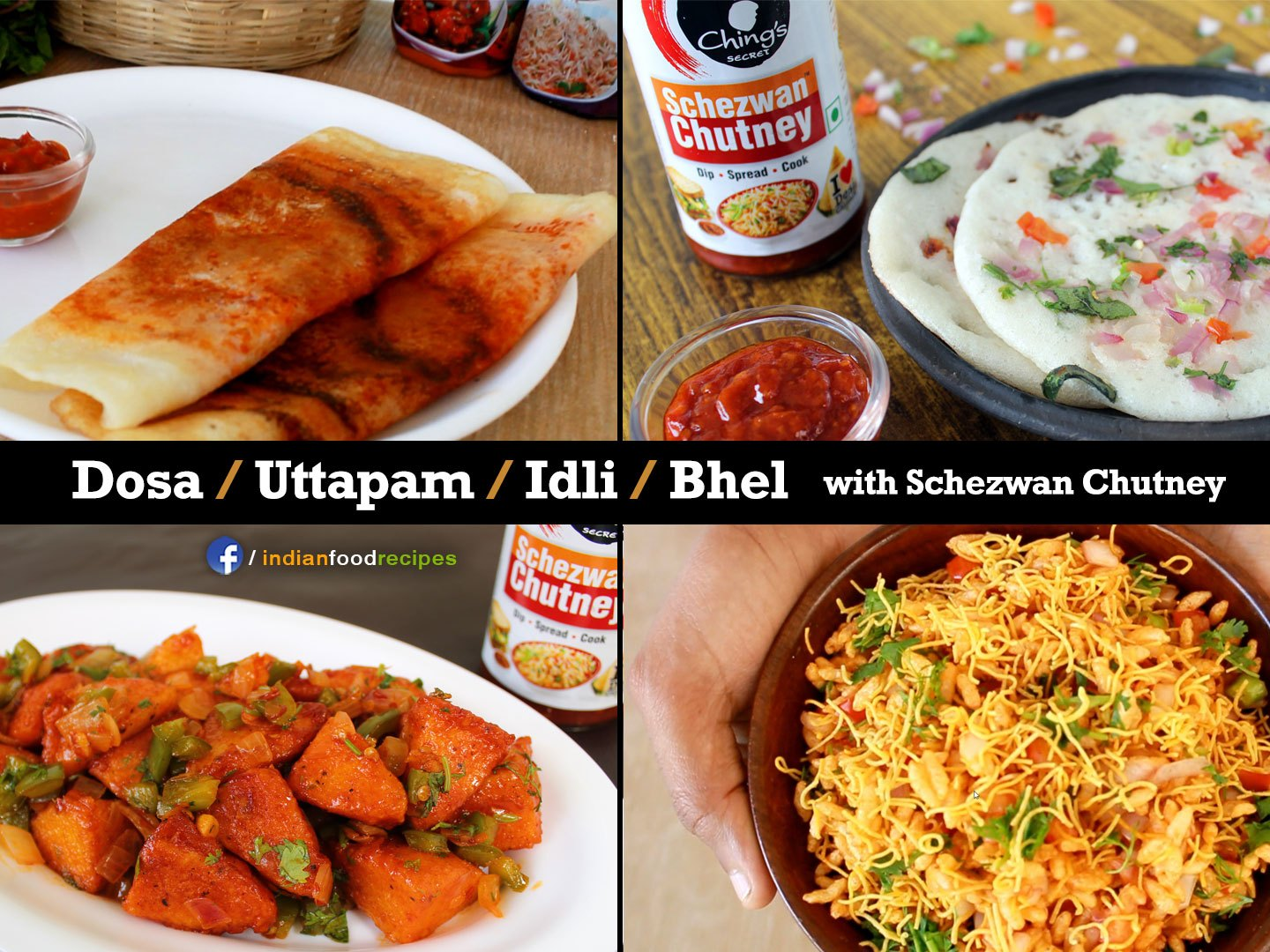 4 Ching's secret Schezwan Chutney recipes | Dosa | Uttapam | Bhel | Idli recipes