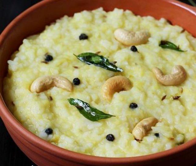 Ven Pongal Recipe How To Make Khara Pongal Recipe